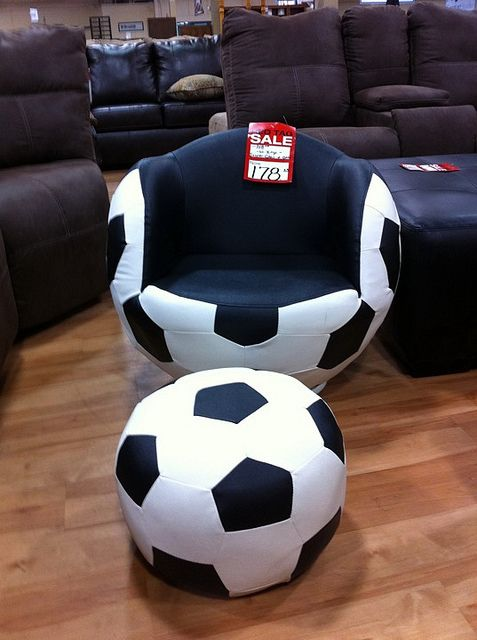 cool soccer chair  soccer  Pinterest