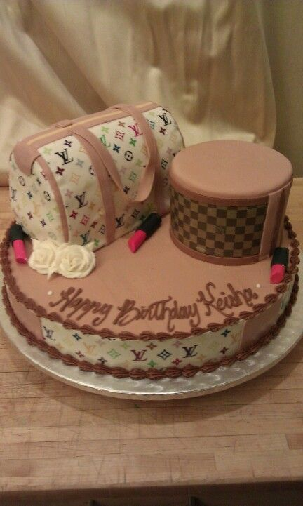 Louis Vuitton Themed Birthday Cake Wedding Cakes