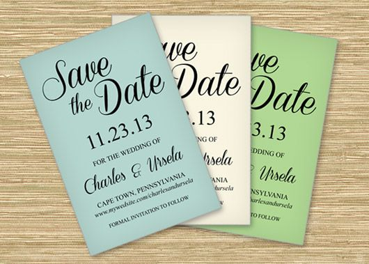 save the date templates word free
