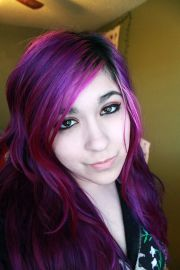 purple hair real life anime