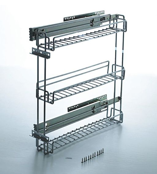 premade kitchen cabinets sink sizes 3 inch pullout spice rack cabinet   pull out ...