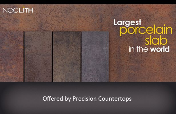 Neolith porcelain slab countertop  variety of finishes