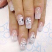pink-base clear nail polish