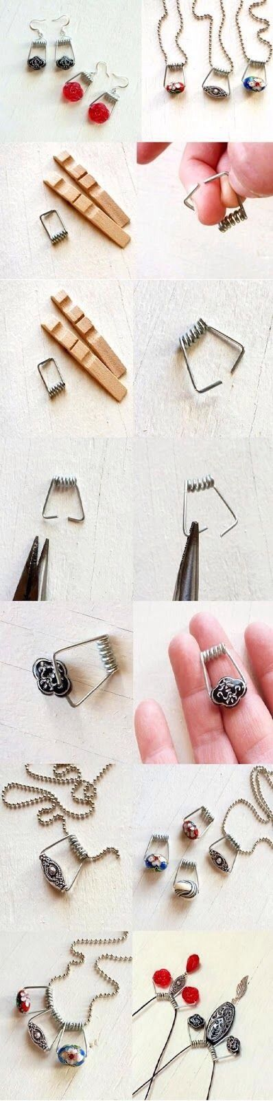 DIY Clothespin Jewelry! What An Adorable And Simple Idea!