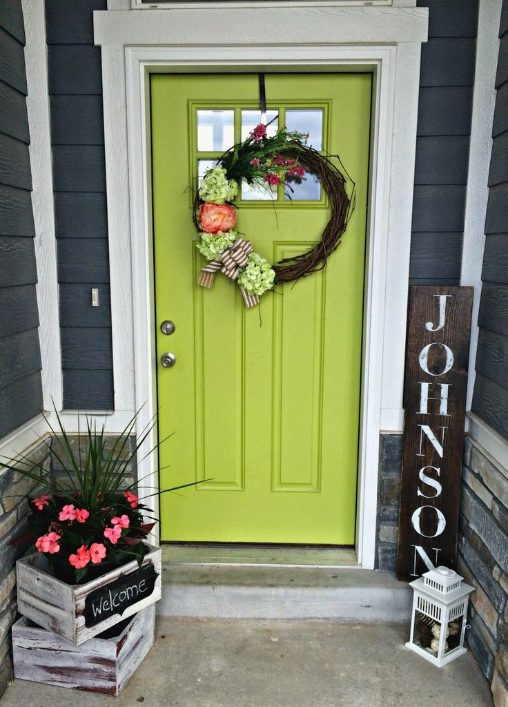 25+ best ideas about Front door decor on Pinterest