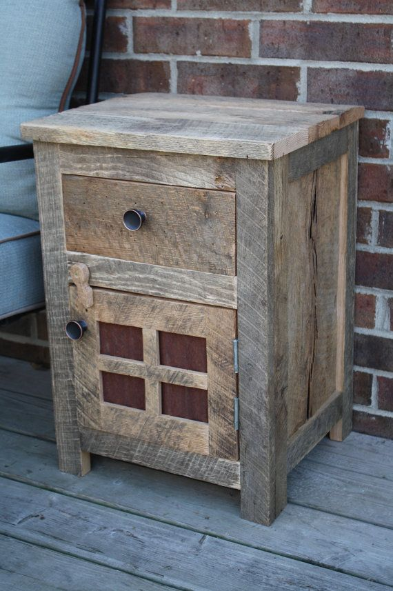 Your Custom Rustic Barn Wood End Table Night Stand Or Side Table Free Shipping Rwetn200f
