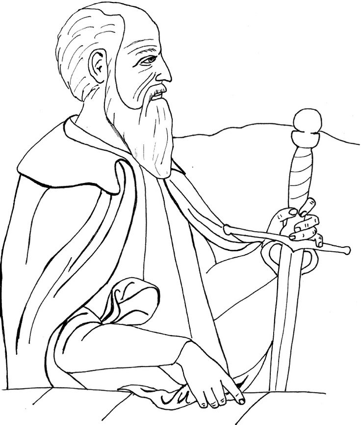Saint Paul of Tarsus Catholic Coloring Page Feast day is