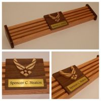 Air Force 24 Challenge Coin Holder w/ Engraved Name Plate ...