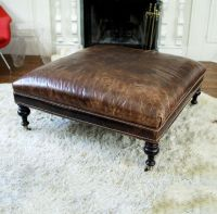 1000+ ideas about Leather Ottoman on Pinterest | Leather ...