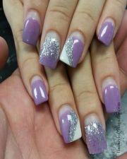 lavender nail art brides