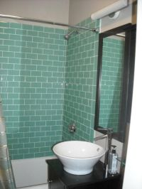 Aqua Glass Subway Tile | Aqua glass, The o'jays and Chic