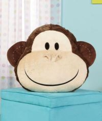 MONKEY Animal Face Plush Pillow for Your Bed Bedroom Pet ...