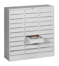 Tennsco 2085 Steel Letter Size Thirty Drawer Cabinet, 31 ...