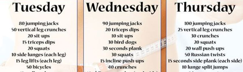 Daily Workout Plan For A Perfect Body Fitness Die