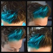 dyed brother's hair blue