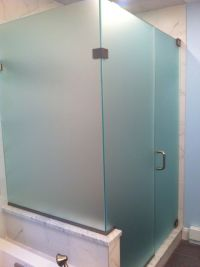 Furniture Bathroom. Cool Frosted Glass Shower Doors ...