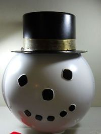 Shamrock Plastic Snowman Head Light Post Cover Lamp ...