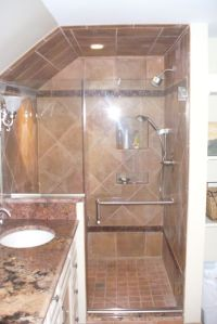 shower knee wall   frameless-shower-door-with-knee-wall ...