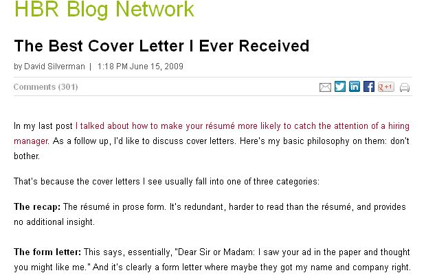 The Best Cover Letter I Ever Received  Letters Cover letters and Business