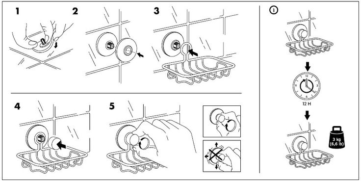 IKEA Immeln Soap Dish Installation Instructions (revised