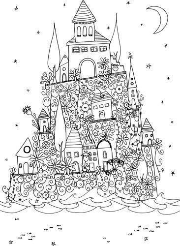 Coloring pages, Coloring and Castles on Pinterest