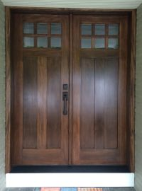 Douglas fir entry door stained and finished. | Exterior ...