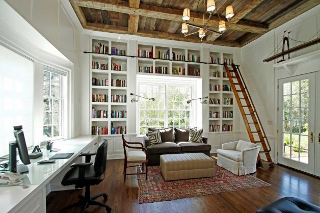 Floor To Ceiling Bookcases, Home Office, Studio