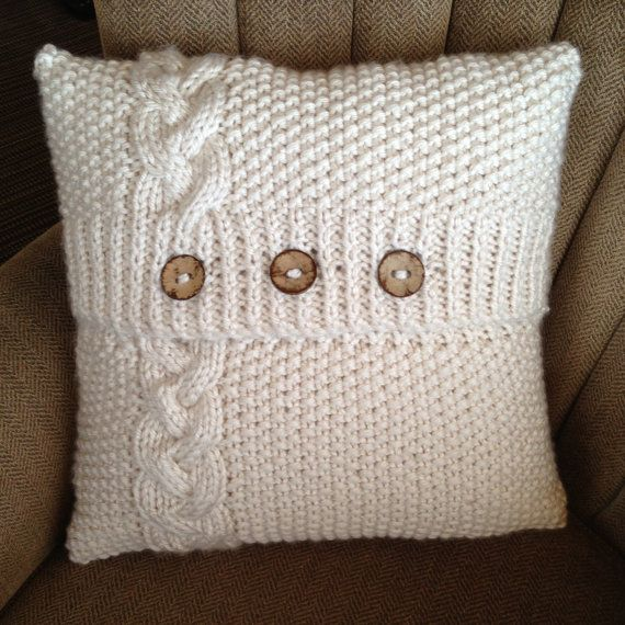 1000 ideas about Knitted Pillows on Pinterest  Knitted