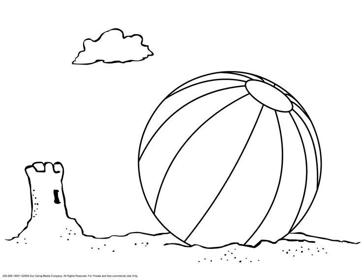 Beach ball, Sands and Coloring on Pinterest