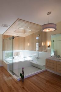 An ofuro - soaking tub and shower combination for a ...