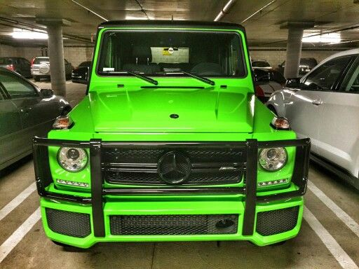 Gorgeous lime green Mercedes GClass  My Kind