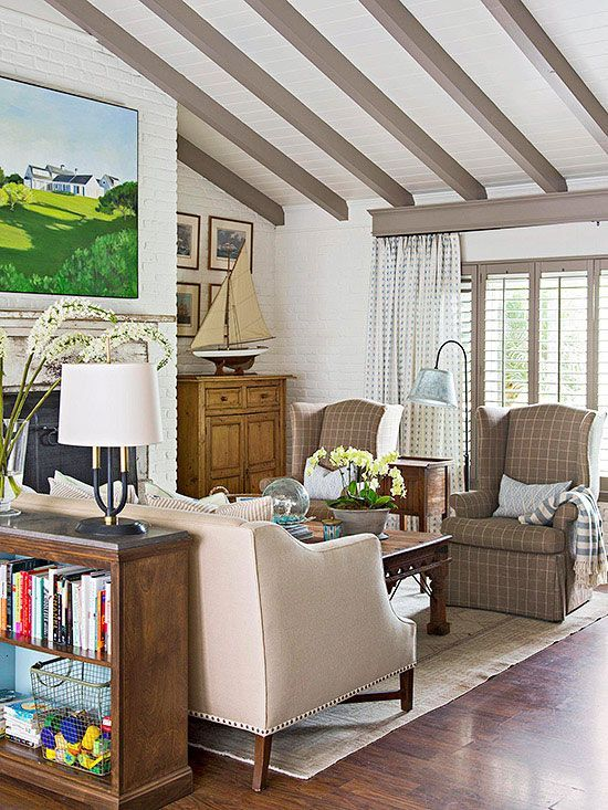 office chair extra wide v steam vaulted ceiling with paneling and exposed beams - i would paint the white | great rooms ...