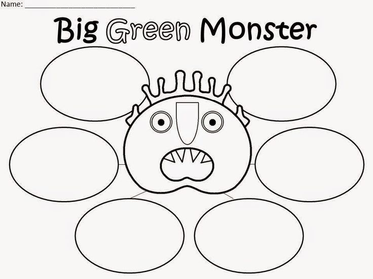 Monster activities: FREE Big Green Monster graphic