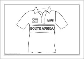 Rugby World Cup team shirt colouring sheets (SB5468