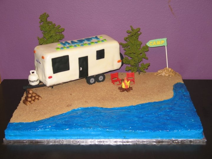 Rv Camping Cake Flying B Cakes Birthday Party Ideas
