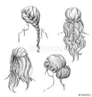 ideas drawing hairstyles