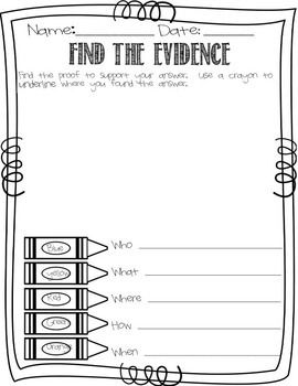 17 Best images about text evidence on Pinterest