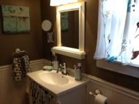 Chocolate ( brown )white wainscoting   Bathroom ideas ...
