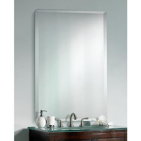 Frameless Rectangular 40 High 30 Wide Beveled Mirror