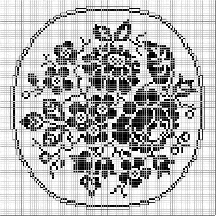 1000+ images about cross-stitch circle-oval on Pinterest