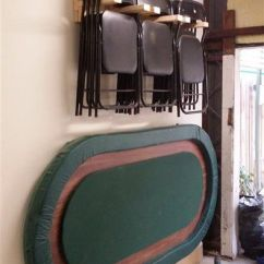 Folding Chair Wall Rack Ebay Santa Covers Scrap Wood To Hanging For Poker Night In The Garage | Workshop/garage Pinterest ...