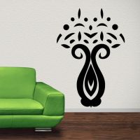 Abstract Wall Decals | Home / Flower Vase Abstract Floral ...