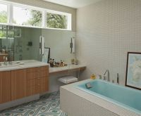 mid century bathroom tile