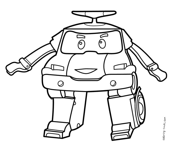 Robocar Poli coloring pages for kids, printable free