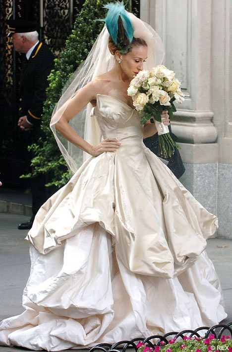 Carrie Bradshaw, the bride wearing Vivienne Westwood wedding gown - Sex and The City