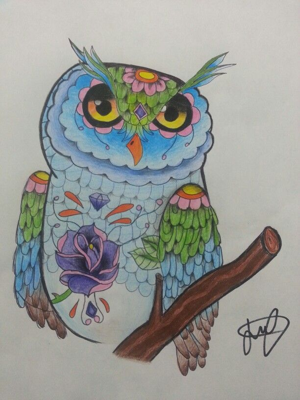 Cute Psychedelic Phone Wallpaper Trippy Owl Drawing My Own Drawings Crafts Pinterest