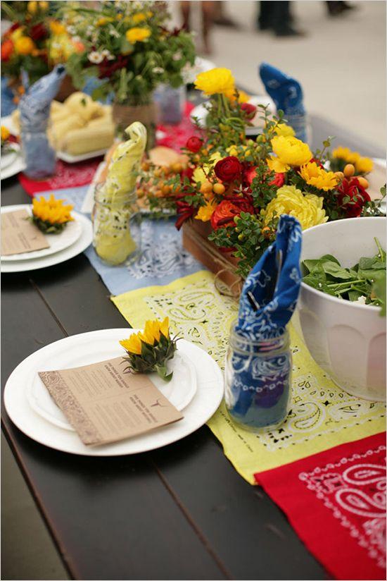 so warm and colorful! mason jar wedding ideas #wedding #theme
