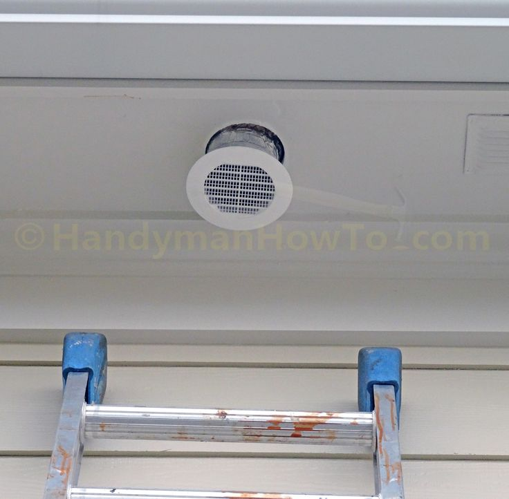 How to Install a Soffit Vent and Ductwork for a Bathroom Vent Fan Mount the vent and connect