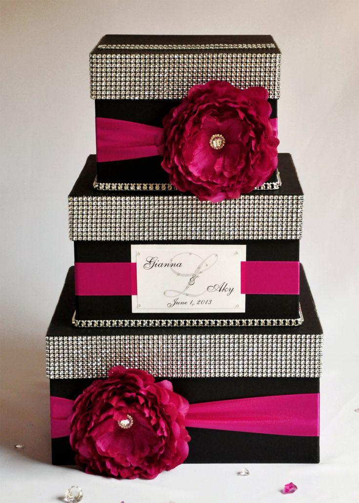 Card box wedding box wedding money box 3 tier
