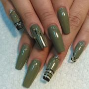 army green coffin nails l